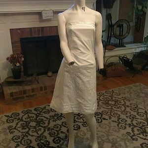 Express ladies white halter dressn